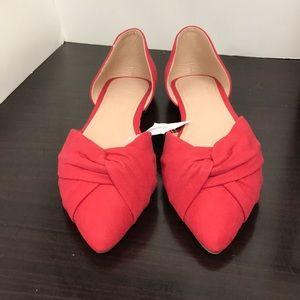Glenn-01 Knotted Detail Ballet Toe Flats